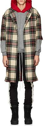 Fear Of God Men's Plaid Wool Open-Front Topcoat