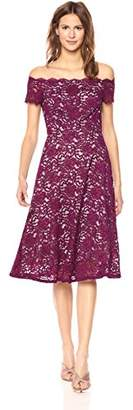 Adrianna Papell Women's Lace Midi Fit and Flare