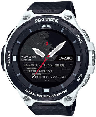 Casio Pro Trek Unisex Black Smart Watch-Wsd-F20wecau