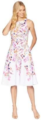 Tahari ASL Floral Print Fit and Flare Dress Women's Dress