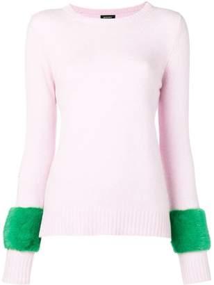 Simonetta Ravizza panelled sleeve sweater