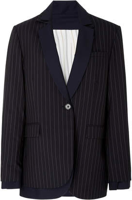 Monse Pinstripe Double Layered Blazer Jacket