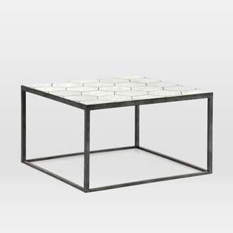 west elm Antique Mirrored Glass-Topped Side Table