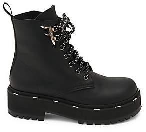 Fendi Women's Leather Combat Boots