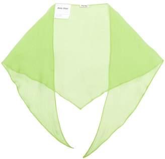Miu Miu chiffon neck scarf