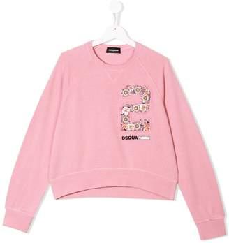 DSQUARED2 TEEN embellished sweatshirt