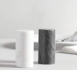 Pottery Barn Black & White Marble Salt & Pepper Shakers