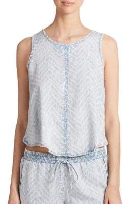 Bella Dahl Hi-Lo Chambray Tank Top