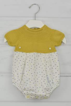 Granlei 1980 Mustard Dots Onesie