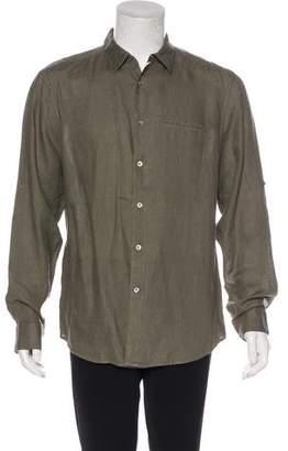 John Varvatos Linen Woven Shirt