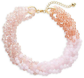 Kate Spade The Bead Goes On Crystal Collar Necklace