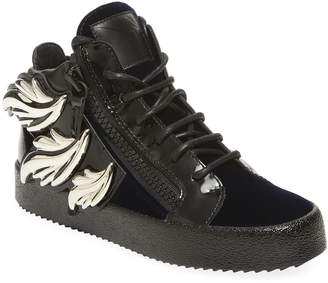 Giuseppe Zanotti Wing Leather Hi-Top Sneaker