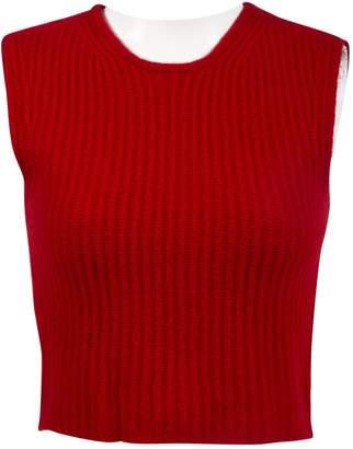 Miu Miu Red Cashmere Knitwear