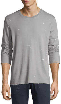 ATM Anthony Thomas Melillo Distressed Jersey Long-Sleeve Shirt