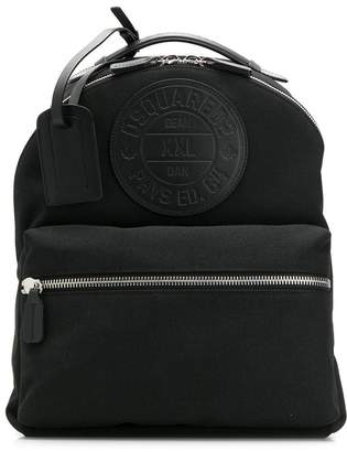 DSQUARED2 logo patch backpack