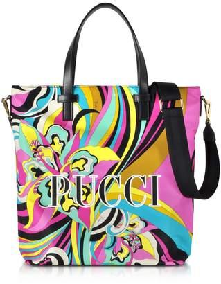 Emilio Pucci Signature Printed Canvas Tote Bag