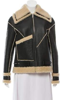 Rodarte Shearling Zip-Up Jacket