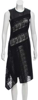 Reed Krakoff Leather-Trimmed Sleeveless Dress Black Leather-Trimmed Sleeveless Dress