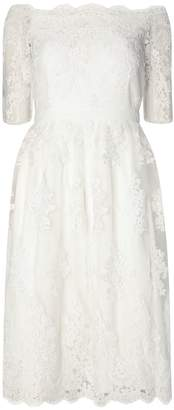 Dorothy Perkins Womens **Ivory 'Bella' Bardot Wedding Dress