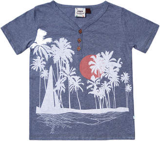 Hudson Fore!! Axel & Fore Axel & Sailboat, Sunset, Palm Screen Print T-Shirt