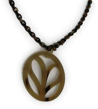 Hermes Buffalo Horn & Lacquer Pendant Necklace
