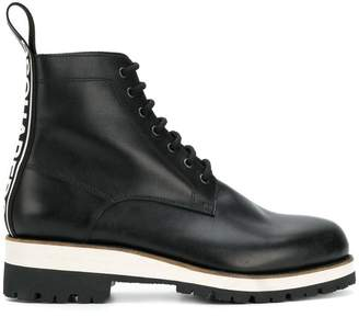 DSQUARED2 brogue trim platform boots