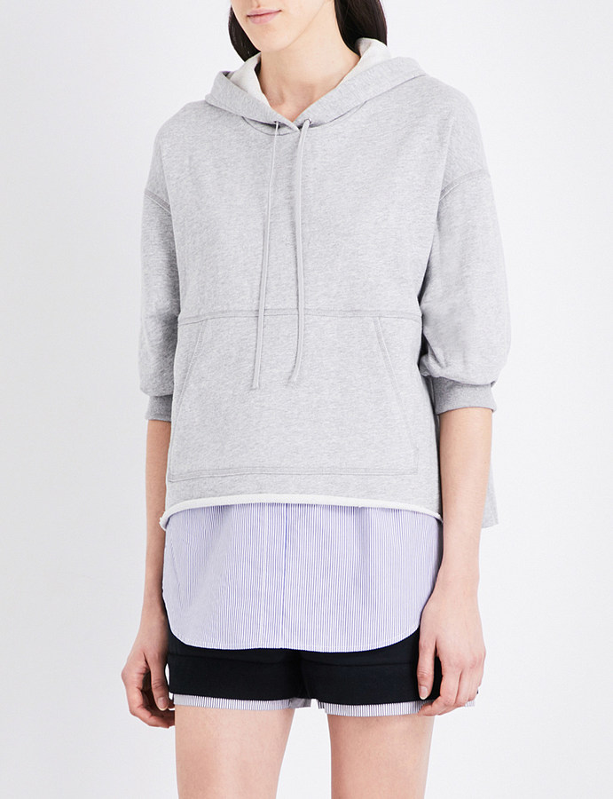 3.1 Phillip Lim 3.1 Phillip Lim Floral-embroidered cotton hoody