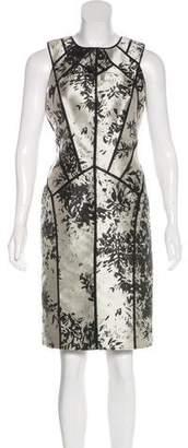 J. Mendel Sleeveless Jacquard Dress
