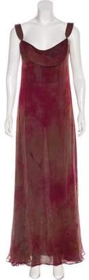 Halston Silk Evening Dress