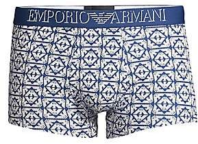 Emporio Armani Men's All Over Eagle Trunks