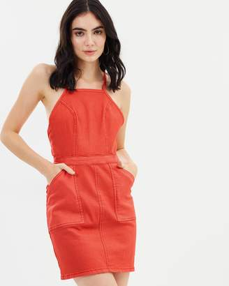 MinkPink Freedom Stretch Pinnie Dress