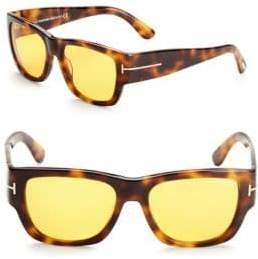 Tom Ford 54MM Rectangular Tortoiseshell Sunglasses