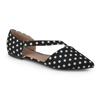 Journee Collection Womens Landry Ballet Flats Strap Pointed Toe