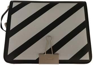 Off-White Off White Binder Multicolour Leather Handbag