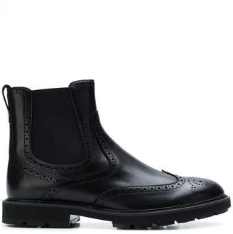 Tod's brogue Chelsea ankle boots