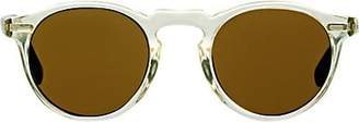 Oliver Peoples Men's Gregory Peck 47 Sunglasses - Buff, Dark tortoise brown