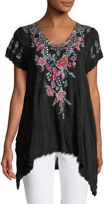 Johnny Was Hinga Georgette Embroidered Tunic, Petite