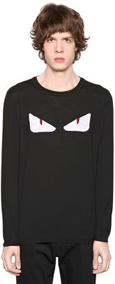 Intarsia Monster Eyes Wool Knit Sweater $650 thestylecure.com