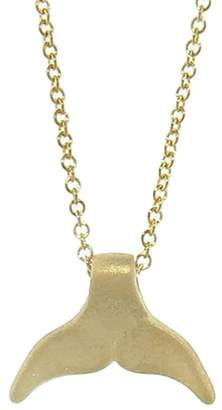 Tate Whale Tail Necklace - Yellow Gold