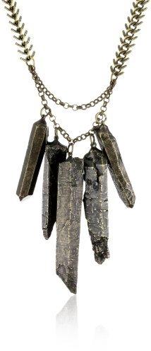 LUV AJ Graduated Crystal Necklace