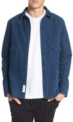 NATIVE YOUTH Cheriton Corduroy Trim Fit Shirt