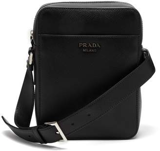 Prada Logo-embellished saffiano-leather camera bag