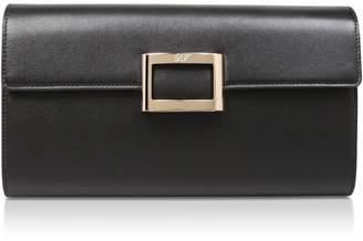 Roger Vivier Leather Envelope Clutch Bag