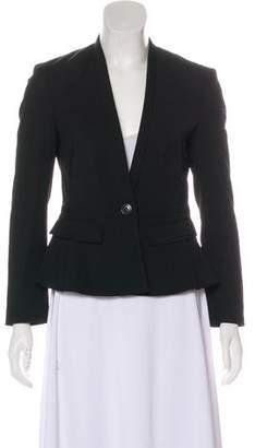 Burberry Woven Single Button Blazer