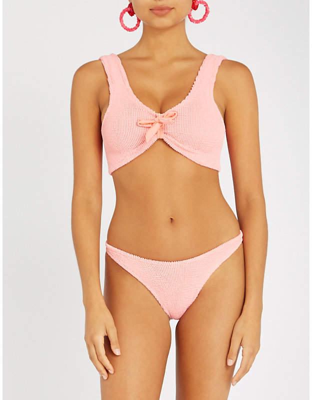 Hunza G Angela tie-front bikini set