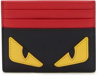 Fendi Bugs leather card holder