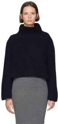 Stella McCartney Navy Ribbed Turtleneck