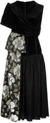 Antonio Marras flared dress with floral panel