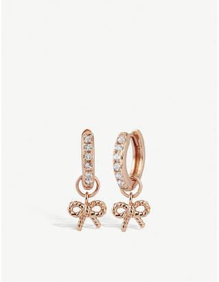 Olivia Burton Rose-gold plated vermeil and sterling silver hoop earrings