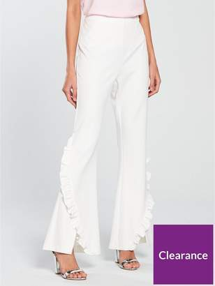 Very Frill Flare Trouser - White